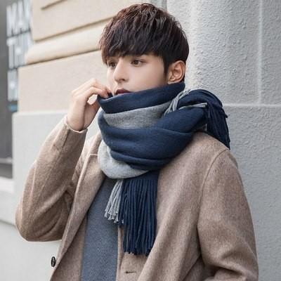 マフラー 男性 冬 韓国版 ペアレント シンプル 保温 男性 マフラー 毛糸 ロング 若者 学生 マフラー 必要