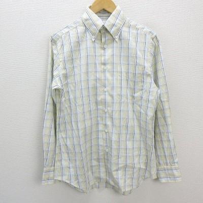 k■ポールスミス/Paul Smith マルチチェック柄 長袖BDシャツ【M】MENS/23【中古】