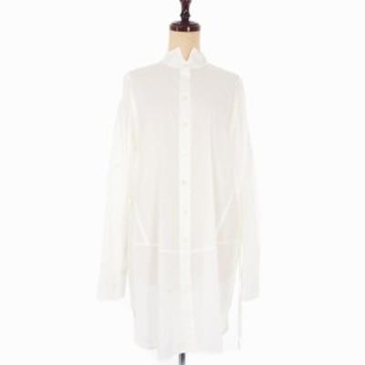 【中古】未使用品 アンドゥムルメステール 19SS ロングシャツ 長袖 サイドボタン 38 ホワイト 白 国内正規品