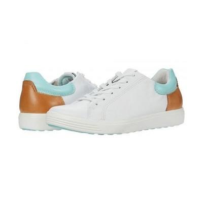 ECCO エコー レディース 女性用 シューズ 靴 スニーカー 運動靴 Soft 7 Street Sneaker - White/Eggshell Blue