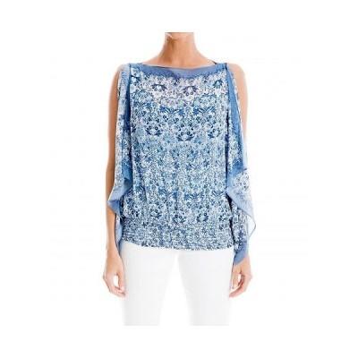 MAXSTUDIO レディース 女性用 ファッション ブラウス Kimono Top - Tofu/Medium Blue