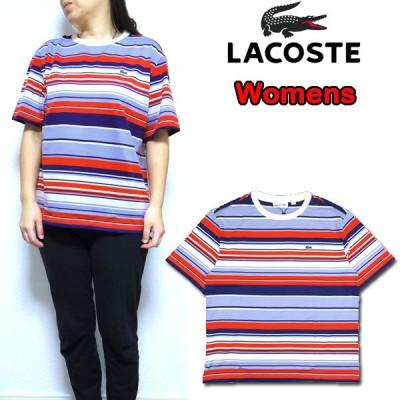 ラコステ レディース Tシャツ LACOSTE Striped T-shirt TF5629 ストライプ 20新作