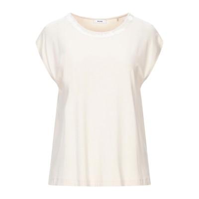 RIANI T シャツ アイボリー 36 レーヨン 92% / ポリウレタン 8% T シャツ