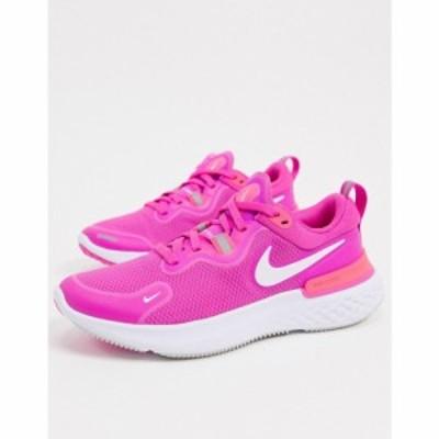 ナイキ Nike Running レディース スニーカー シューズ・靴 React Miler trainers in pink ピンク