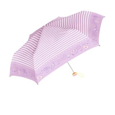 Girls 女の子用 折りたたみ傘 50cm チャーム付き