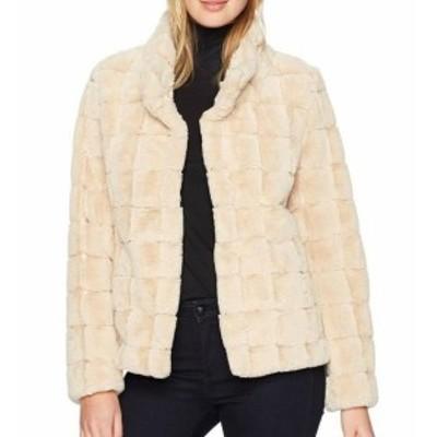 Kristen Blake クリステンブレーク ファッション 衣類 Kristen Blake Womens Jacket Beige Size XL Plush Faux-Fur Hook-And-Eye