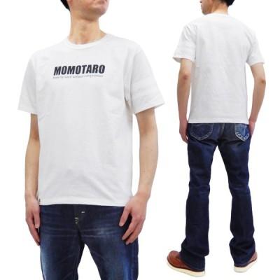 桃太郎ジーンズ Tシャツ GTB MOMOTARO LOGO 半袖Tシャツ 出陣ライン 07-090 ホワイト 新品