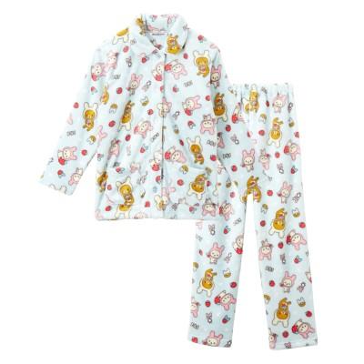 リラックマ 総柄フリース前開きパジャマ(M) (パジャマ・ルームウェア)Pajamas