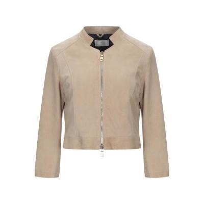 EMANUELE CURCI レザーブルゾン  レディースファッション  コート  その他コート サンド