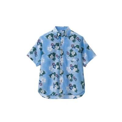 ボタンダウンアロハシャツ(カジーマ柄)(男女兼用)