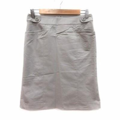【中古】エマジェイムス EMMAJAMES 台形スカート ひざ丈 11 ベージュ /MS レディース