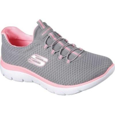 スケッチャーズ Skechers レディース スニーカー シューズ・靴 Summits Sneaker Gray/Pink