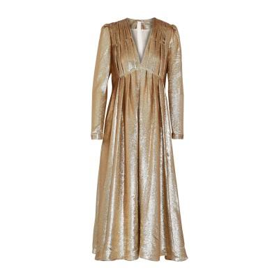 ADAM LIPPES 7分丈ワンピース・ドレス ゴールド 0 シルク 73% / ポリエステル 27% 7分丈ワンピース・ドレス