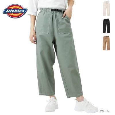 Dickies ディッキーズ ワイドパンツ パンツ クライミングベルト レディース ブランドロゴ デニム 綿100%