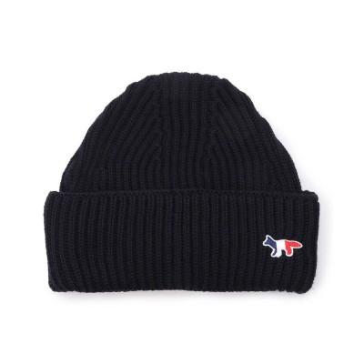 【ロイヤルフラッシュ】 MAISON KITSUNE/メゾン キツネ/RIBBED HAT トリコロールFOXパッチ メンズ NAVY 00 RoyalFlash