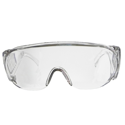 【Docomo】防疫專用最大型護目鏡 圓筒形全透明鏡框設計 一體成形(抗UV400護目鏡)