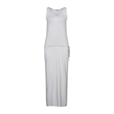GRAZIA'LLIANI SOON ロングワンピース&ドレス ライトグレー 42 レーヨン 95% / ポリウレタン 5% ロングワンピース&ドレス