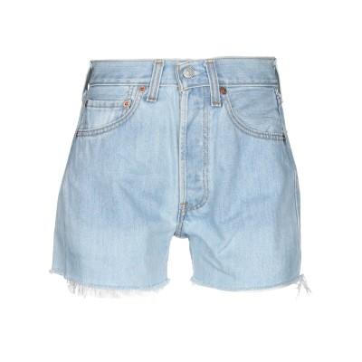 LEVI' S デニムショートパンツ ブルー 26 コットン 100% デニムショートパンツ