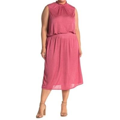 レオタ レディース ワンピース トップス Samantha Smocked Sleeveless Midi Dress SPG FLING RAP ROSE