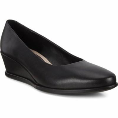 エコー ECCO レディース パンプス ウェッジソール シューズ・靴 Shape 45 Wedge Pump Black Leather