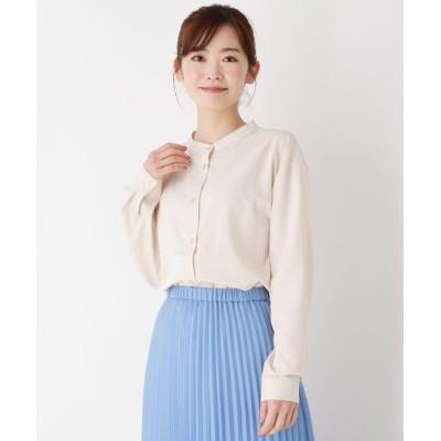 pink adobe(ピンクアドベ) 【M-3L】バンドカラーシャツ