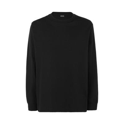 8 by YOOX T シャツ ブラック XL オーガニックコットン 100% T シャツ