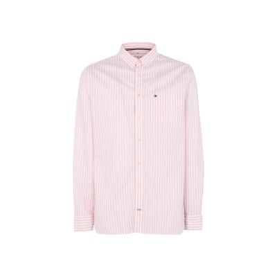 YOOX - トミーヒルフィガー TOMMY HILFIGER シャツ ピンク XL コットン 100% シャツ