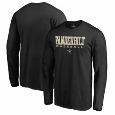 Fanatics Branded ファナティクス ブランド スポーツ用品  Fanatics Branded Vanderbilt Commodores Black True Sport Baseball Long Sle