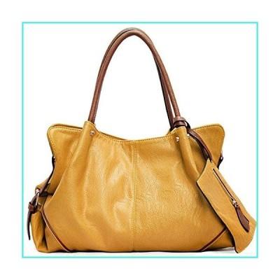 【新品】FiveloveTwo Womens Ladies 3 Pieces Handbag Combo Set Hobo Clutch Top Handle Tote Bags and Purse Large Tote + Purse + Shoulder Bag Yellow