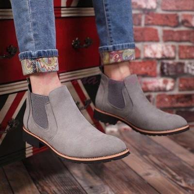 サイドゴアブーツ メンズ ショートブーツ 靴 カジュアルシューズ 無地 紳士靴 スエード 歩きやすい 秋冬新作