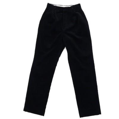 コーデュロイ タックパンツ ツータック スラックス ブラック サイズ表記:--