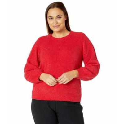 マイケルコース レディース ニット・セーター アウター Plus Size Texture Puff Sleeve Sweater Crimson