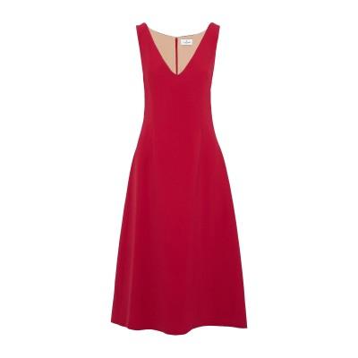 J.MENDEL 7分丈ワンピース・ドレス レッド 0 コットン 96% / ポリウレタン 4% 7分丈ワンピース・ドレス