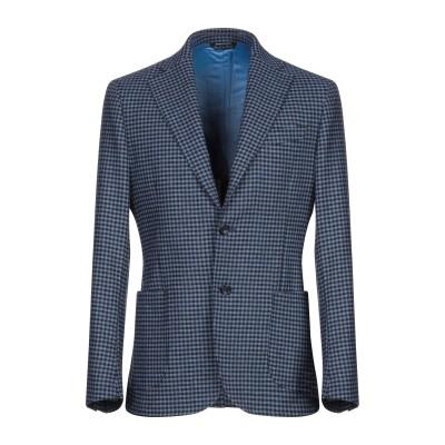GAETANO AIELLO テーラードジャケット ブルー 46 バージンウール 100% テーラードジャケット