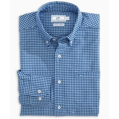 サウザーンタイド メンズ シャツ トップス Channel Marker Gingham Long-Sleeve Woven Shirt