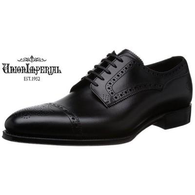 【ユニオンインペリアル】U1541 (ブラック) 外羽根クオーターブローグ フォーマル メンズ ビジネス 紳士靴 牛革 2E レースアップ