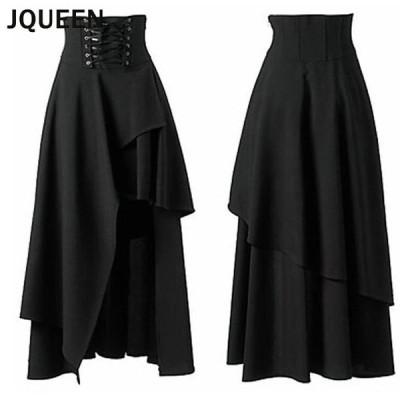 JQUEEN コルセットデザイン スカート ロング レディース マキシ丈 ロングスカート ボトムス