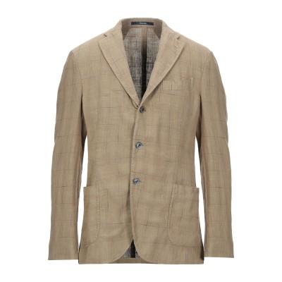 ドルモア DRUMOHR テーラードジャケット キャメル 50 コットン 82% / 麻 18% テーラードジャケット