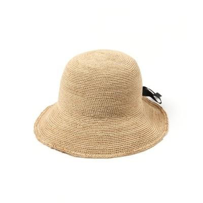 studio CLIP / タック入りラフィアハット WOMEN 帽子 > ハット