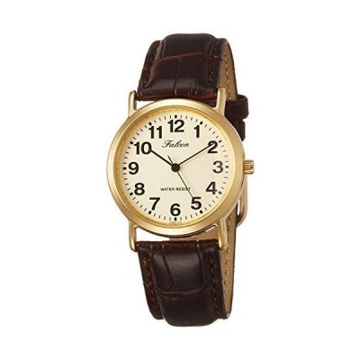 [シチズン Q&Q] 腕時計 アナログ 防水 革ベルト QA62-103 メンズ ブラウン