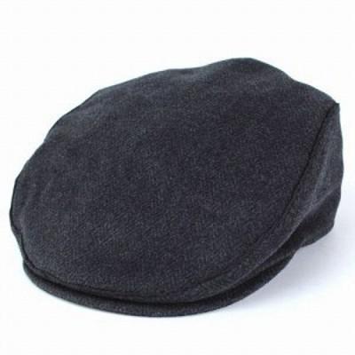 帽子 ハンチング ブランド ヘンシェル ジェフリービーン ウール混 メンズ 秋冬 チャコールグレー ブラック