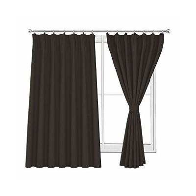 WONTEX 2枚セット カーテン遮光1級 ドレープカーテン おしゃれ 断熱 形状記憶加工 リビングルーム UVカット ブラ
