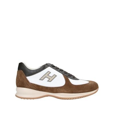 ホーガン HOGAN スニーカー&テニスシューズ(ローカット) ブラウン 8 紡績繊維 / 革 スニーカー&テニスシューズ(ローカット)