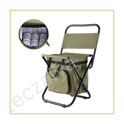 Dytxe Outdoor Ultralight Portable Folding Chairs Foldable Camping Chair with Cooler Bag Compact Fishing Stool for Fishing, Hiking, Picnic, Beach【並