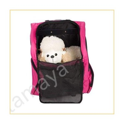 Jlxl 3 Way Pet Carrier Trolley, Portable Cat Carry Case Travel Transport Box Telescopic Handle Strollers Detachable Pink Pet Supplies