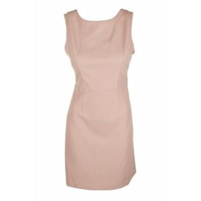 Betsey Johnson ベッツィージョンソン ファッション ドレス Betsey Johnson Blush Sleeveless Cross-Back Scuba Crepe Sheath Dress 10