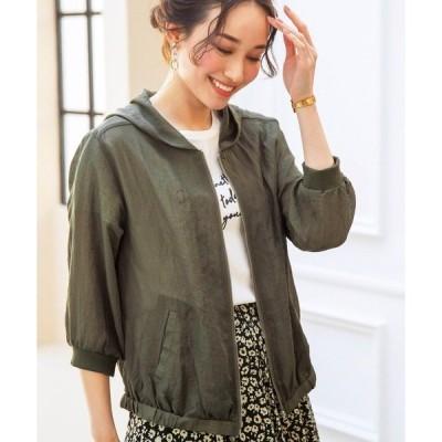 ジャケット ブルゾン フードデザインジッパー使いジャケット