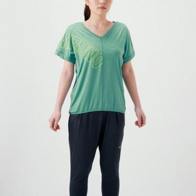 ミズノ トレーニングウエア Tシャツ (MIZUNOロゴ) レディース  32MA081034