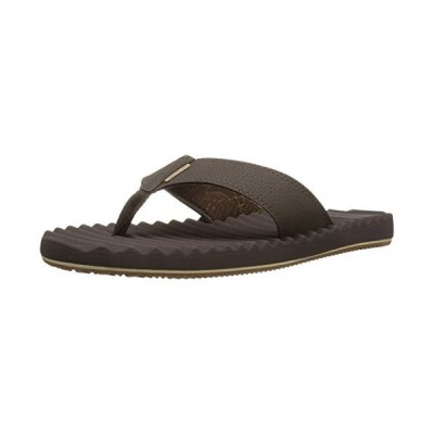 Freewaters Mens Basecamp Therm-a-Rest Flip Flop Sandal, Brown, 7 M US