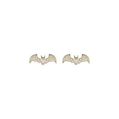 レディース アクセサリー  Eye Candy LA CZ Golden Bat Studs